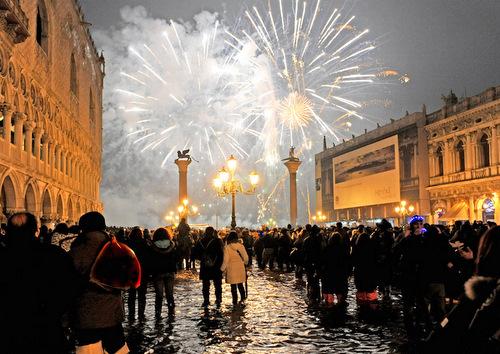 Naujųjų metų sutikimas Venecijoje